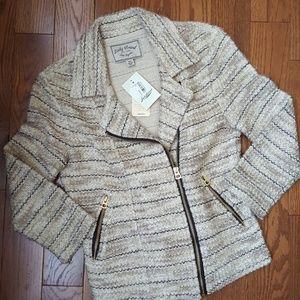 LUCKY BRAND tweed jacket XS. New